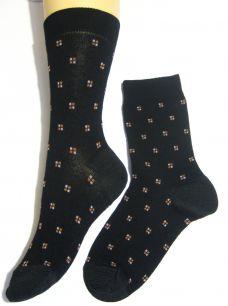 Носки мужские - черные | Classic 80/20 | квадратики